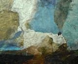 Incoming by Demo Portfolio, Painting, mixed media with wax and collage
